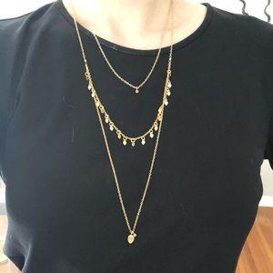 Satya Jewelry gold triple-strand layered necklace